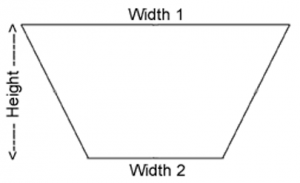 Trapezoid First Surface Mirror