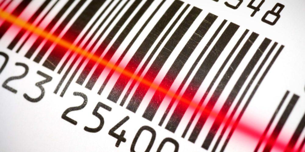 Bar code scanning a bar code